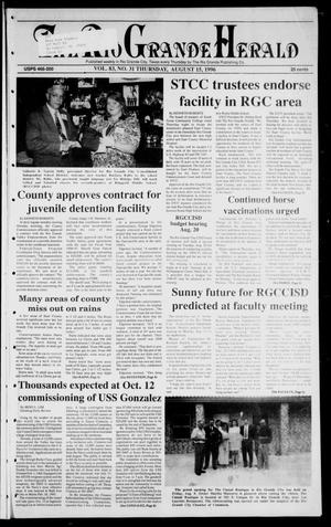 Primary view of object titled 'Rio Grande Herald (Rio Grande City, Tex.), Vol. 83, No. 31, Ed. 1 Thursday, August 15, 1996'.