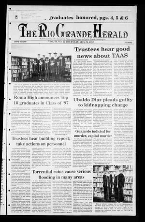 Primary view of object titled 'Rio Grande Herald (Rio Grande City, Tex.), Vol. 84, No. 22, Ed. 1 Thursday, May 29, 1997'.
