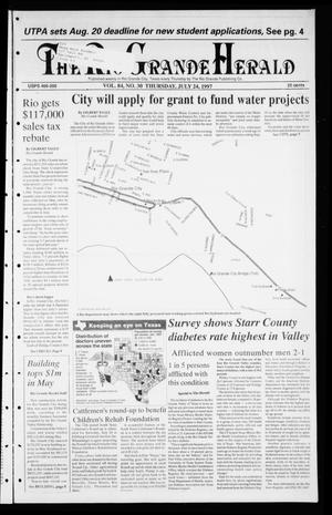 Primary view of object titled 'Rio Grande Herald (Rio Grande City, Tex.), Vol. 84, No. 30, Ed. 1 Thursday, July 24, 1997'.