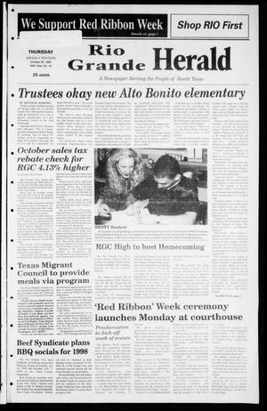 Primary view of object titled 'Rio Grande Herald (Rio Grande City, Tex.), Vol. 84, No. 43, Ed. 1 Thursday, October 23, 1997'.