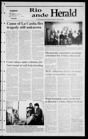 Primary view of object titled 'Rio Grande Herald (Rio Grande City, Tex.), Vol. 85, No. 20, Ed. 1 Thursday, May 14, 1998'.