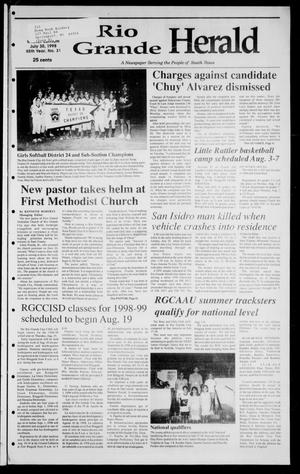 Primary view of object titled 'Rio Grande Herald (Rio Grande City, Tex.), Vol. 85, No. 31, Ed. 1 Thursday, July 30, 1998'.
