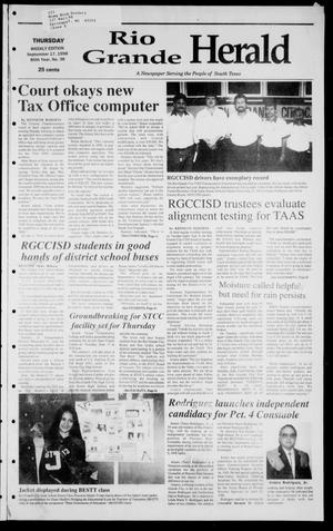 Primary view of object titled 'Rio Grande Herald (Rio Grande City, Tex.), Vol. 85, No. 38, Ed. 1 Thursday, September 17, 1998'.