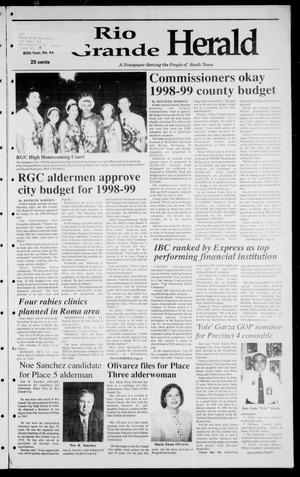 Rio Grande Herald (Rio Grande City, Tex.), Vol. 85, No. 41, Ed. 1 Thursday, October 8, 1998