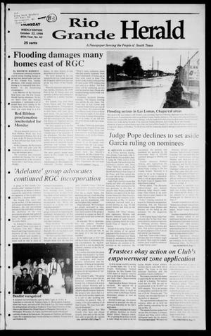 Primary view of object titled 'Rio Grande Herald (Rio Grande City, Tex.), Vol. 85, No. 43, Ed. 1 Thursday, October 22, 1998'.