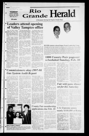 Rio Grande Herald (Rio Grande City, Tex.), Vol. 86, No. 7, Ed. 1 Thursday, February 18, 1999
