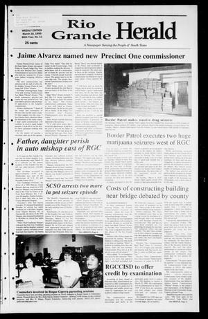 Rio Grande Herald (Rio Grande City, Tex.), Vol. 86, No. 11, Ed. 1 Thursday, March 18, 1999