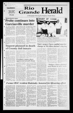 Primary view of object titled 'Rio Grande Herald (Rio Grande City, Tex.), Vol. 86, No. 18, Ed. 1 Thursday, May 6, 1999'.