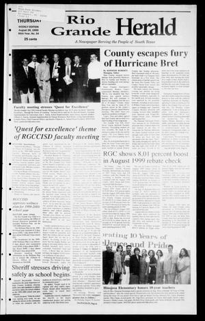 Primary view of object titled 'Rio Grande Herald (Rio Grande City, Tex.), Vol. 86, No. 34, Ed. 1 Thursday, August 26, 1999'.
