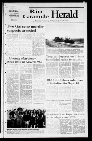 Primary view of object titled 'Rio Grande Herald (Rio Grande City, Tex.), Vol. 86, No. 36, Ed. 1 Thursday, September 9, 1999'.