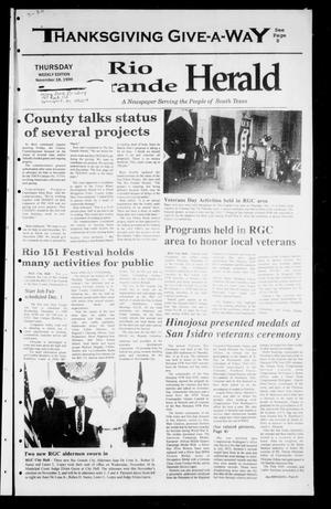Primary view of object titled 'Rio Grande Herald (Rio Grande City, Tex.), Vol. 86, No. 46, Ed. 1 Thursday, November 18, 1999'.
