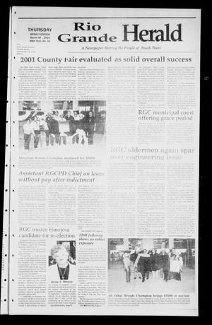 Primary view of object titled 'Rio Grande Herald (Rio Grande City, Tex.), Vol. 88, No. 10, Ed. 1 Thursday, March 8, 2001'.