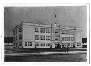 Primary view of object titled 'High school building,E.F. Rittenberry, Arch't, Amarillo, Texas'.