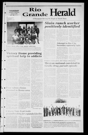 Primary view of object titled 'Rio Grande Herald (Rio Grande City, Tex.), Vol. 88, No. 17, Ed. 1 Thursday, April 26, 2001'.