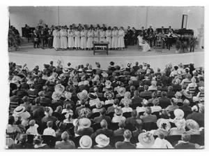 Primary view of object titled '[Dedication ceremonies, West Texas State Normal College building]'.