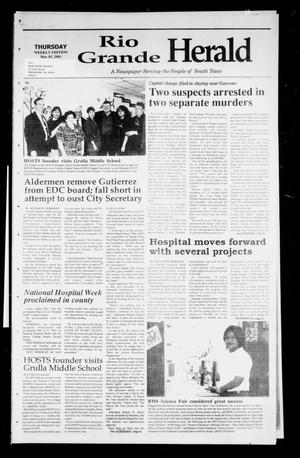 Primary view of object titled 'Rio Grande Herald (Rio Grande City, Tex.), Vol. 88, No. 18, Ed. 1 Thursday, May 3, 2001'.