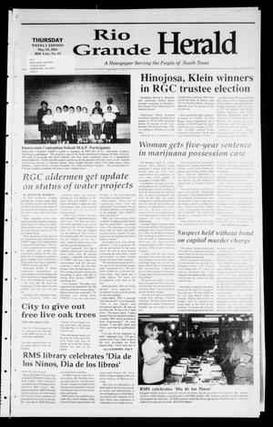 Primary view of object titled 'Rio Grande Herald (Rio Grande City, Tex.), Vol. 88, No. 19, Ed. 1 Thursday, May 10, 2001'.