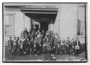 Primary view of object titled '[Canyon, Texas schoolchildren]'.