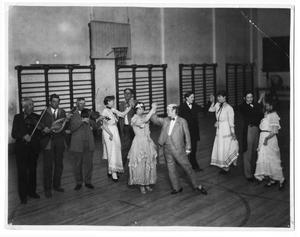 Primary view of object titled '[Students in a costume dance]'.