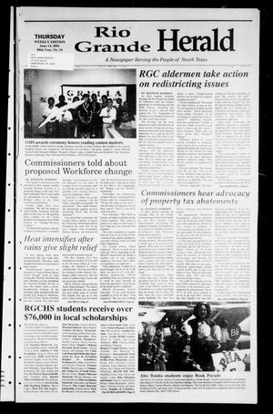 Primary view of object titled 'Rio Grande Herald (Rio Grande City, Tex.), Vol. 88, No. 24, Ed. 1 Thursday, June 14, 2001'.