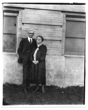 Primary view of object titled '[Photograph of Joseph A. and  Ola Hill]'.