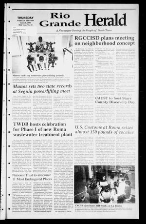 Primary view of object titled 'Rio Grande Herald (Rio Grande City, Tex.), Vol. 88, No. 26, Ed. 1 Thursday, June 28, 2001'.