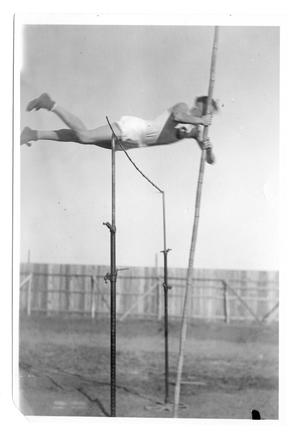 Primary view of object titled '[Vaulter clearing the bar]'.