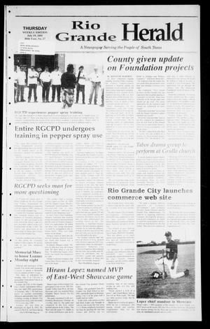 Primary view of object titled 'Rio Grande Herald (Rio Grande City, Tex.), Vol. 88, No. 27, Ed. 1 Thursday, July 19, 2001'.