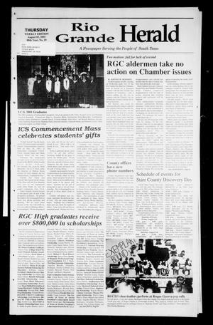 Primary view of object titled 'Rio Grande Herald (Rio Grande City, Tex.), Vol. 88, No. 29, Ed. 1 Thursday, August 2, 2001'.