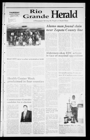 Primary view of object titled 'Rio Grande Herald (Rio Grande City, Tex.), Vol. 88, No. 32, Ed. 1 Thursday, August 23, 2001'.