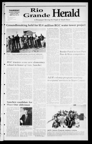 Primary view of object titled 'Rio Grande Herald (Rio Grande City, Tex.), Vol. 88, No. 33, Ed. 1 Thursday, August 30, 2001'.