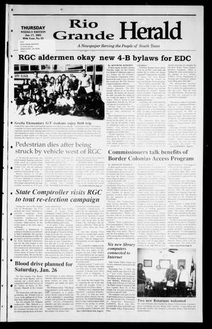 Primary view of object titled 'Rio Grande Herald (Rio Grande City, Tex.), Vol. 89, No. 3, Ed. 1 Thursday, January 17, 2002'.