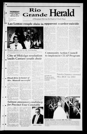 Primary view of object titled 'Rio Grande Herald (Rio Grande City, Tex.), Vol. 89, No. 5, Ed. 1 Thursday, January 31, 2002'.