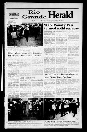 Primary view of object titled 'Rio Grande Herald (Rio Grande City, Tex.), Vol. 89, No. 10, Ed. 1 Thursday, March 7, 2002'.