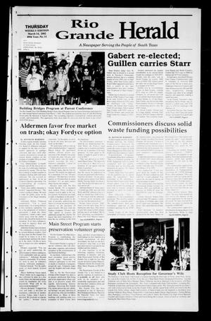 Primary view of object titled 'Rio Grande Herald (Rio Grande City, Tex.), Vol. 89, No. 11, Ed. 1 Thursday, March 14, 2002'.