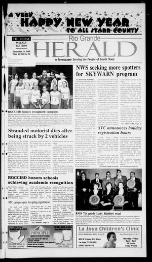 Primary view of object titled 'Rio Grande Herald (Rio Grande City, Tex.), Vol. 92, No. 52, Ed. 1 Thursday, December 29, 2005'.