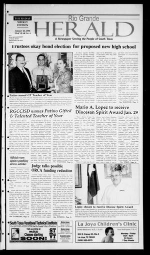 Primary view of object titled 'Rio Grande Herald (Rio Grande City, Tex.), Vol. 93, No. 4, Ed. 1 Thursday, January 26, 2006'.