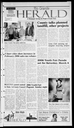 Primary view of object titled 'Rio Grande Herald (Rio Grande City, Tex.), Vol. 93, No. 8, Ed. 1 Thursday, February 23, 2006'.