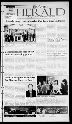 Primary view of object titled 'Rio Grande Herald (Rio Grande City, Tex.), Vol. 93, No. 37, Ed. 1 Thursday, September 14, 2006'.