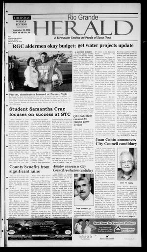 Primary view of object titled 'Rio Grande Herald (Rio Grande City, Tex.), Vol. 93, No. 38, Ed. 1 Thursday, September 21, 2006'.