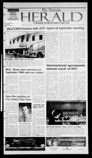 Rio Grande Herald (Rio Grande City, Tex.), Vol. 93, No. 40, Ed. 1 Thursday, October 5, 2006