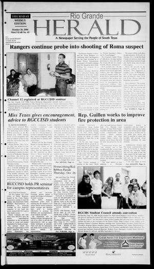 Rio Grande Herald (Rio Grande City, Tex.), Vol. 93, No. 43, Ed. 1 Thursday, October 26, 2006