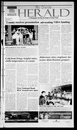 Primary view of object titled 'Rio Grande Herald (Rio Grande City, Tex.), Vol. 93, No. 50, Ed. 1 Thursday, December 14, 2006'.