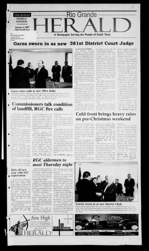 Primary view of object titled 'Rio Grande Herald (Rio Grande City, Tex.), Vol. 94, No. 1, Ed. 1 Thursday, January 4, 2007'.