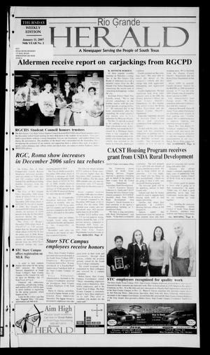 Primary view of object titled 'Rio Grande Herald (Rio Grande City, Tex.), Vol. 94, No. 2, Ed. 1 Thursday, January 11, 2007'.