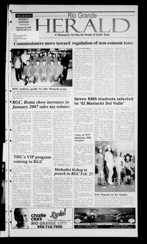Rio Grande Herald (Rio Grande City, Tex.), Vol. 94, No. 8, Ed. 1 Thursday, February 22, 2007