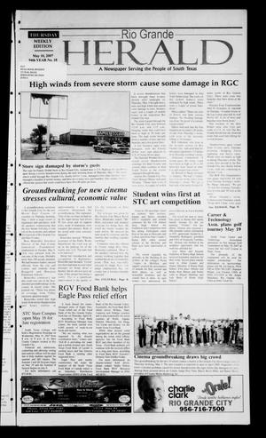 Primary view of object titled 'Rio Grande Herald (Rio Grande City, Tex.), Vol. 94, No. 18, Ed. 1 Thursday, May 10, 2007'.