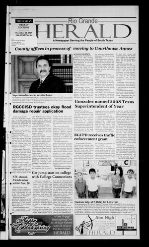Rio Grande Herald (Rio Grande City, Tex.), Vol. 94, No. 46, Ed. 1 Thursday, November 22, 2007