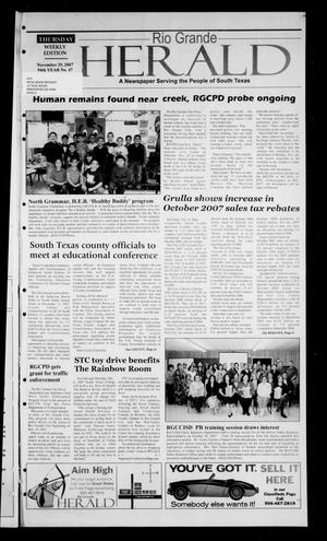 Rio Grande Herald (Rio Grande City, Tex.), Vol. 94, No. 47, Ed. 1 Thursday, November 29, 2007