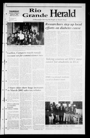 Primary view of object titled 'Rio Grande Herald (Rio Grande City, Tex.), Vol. 89, No. 12, Ed. 1 Thursday, March 21, 2002'.